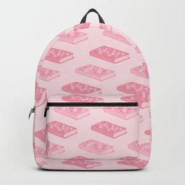 Pink Floral Books Backpack