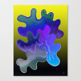 Relaxing Ornamental Spirits. Meditative iFi Art. Stress and Pain Free with MYT3H. Neon. Dreamy. Canvas Print