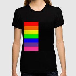 Rainbow Block in Black T-shirt