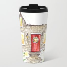 Snowy Cottage Travel Mug