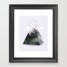 Forest triangle Framed Art Print