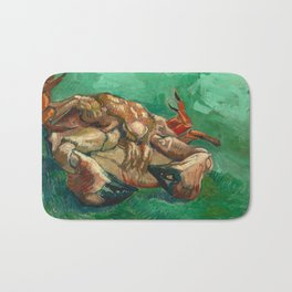 Crab on it's Back by Vincent Van Gogh, 1889 Bath Mat