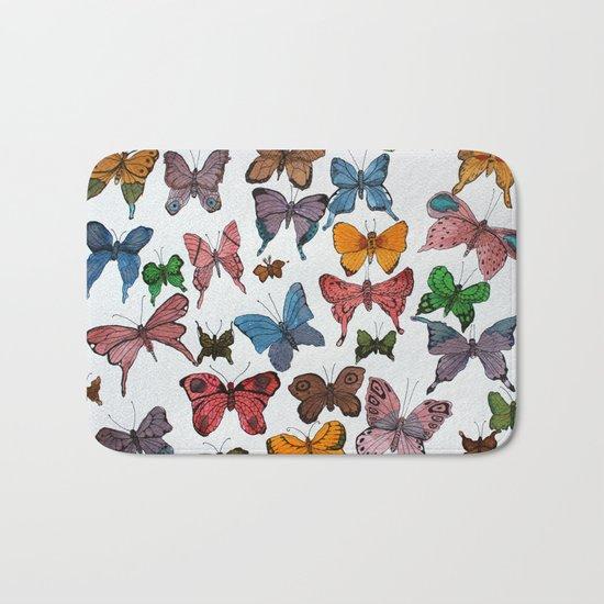 Lepidoptera Bath Mat
