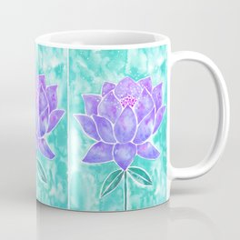 Sacred Lotus – Lavender Blossom on Mint Palette Coffee Mug