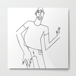 Pen Man Metal Print