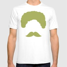 Moustache2 MEDIUM Mens Fitted Tee White