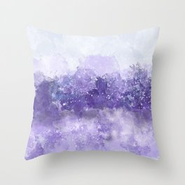 Choppy Purple Ocean Water Throw Pillow