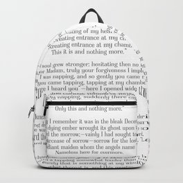Nevermore - The Raven by Edgar Allen Poe Backpack