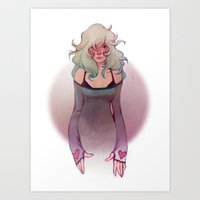 hearts Art Prints featuring Hearts by loish
