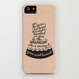 Little Black Dress iPhone Case