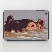 hippo iPad Cases featuring Hippo by Underlying Art