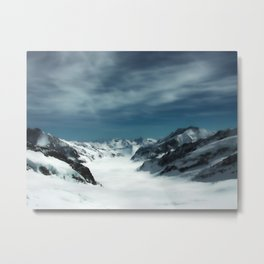 Jungfrau Mountain in Swiss Alps Metal Print