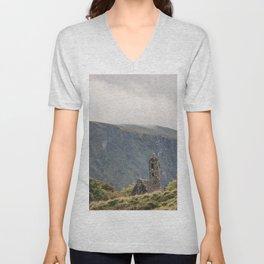 Glendalough Mountain Monastery Unisex V-Neck
