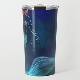 chalk mermaid Travel Mug