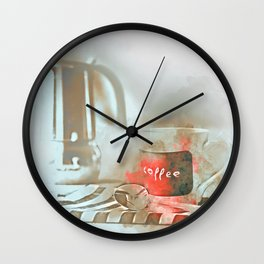 Coffee cup and mug drink Wall Clock