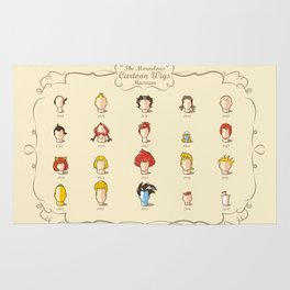 The Marvelous Cartoon Wigs Museum Rug
