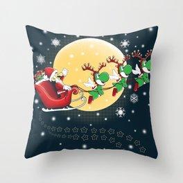 Super Mario Claus Throw Pillow