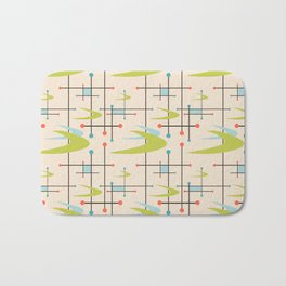 Mid Century Modern in Lime and Blush Bath Mat
