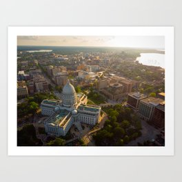 Sundown Wisconsin Art Print
