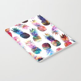 watercolor and nebula pineapples illustration pattern Notebook
