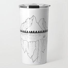 Serene Floating Mountain Campsite Travel Mug