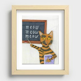 Smarty Cat Recessed Framed Print