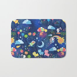 Cosmic Kawaii Bath Mat