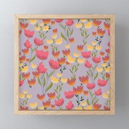 Tip toeing through the tulips  Framed Mini Art Print