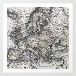 Old map art prints society6 old world map art print gumiabroncs Image collections