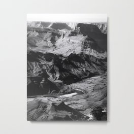 Desert at Grand Canyon national park, USA in black and white Metal Print