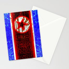 circuit board North Korea (flag) Stationery Cards