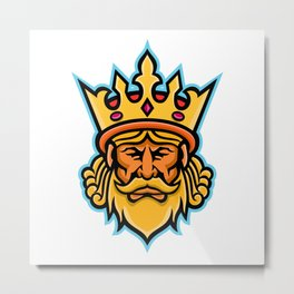 King With Crown Mascot Metal Print