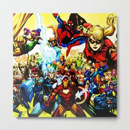 super hero full power Metal Print