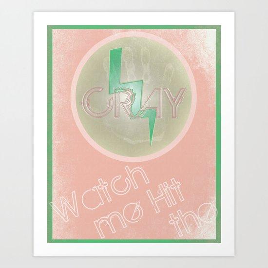 Cray Button - Melon Lime Art Print