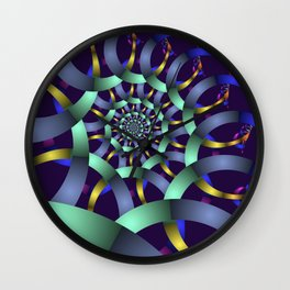 The turquoise spiral Wall Clock