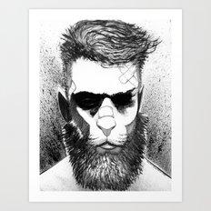 Lion man Art Print