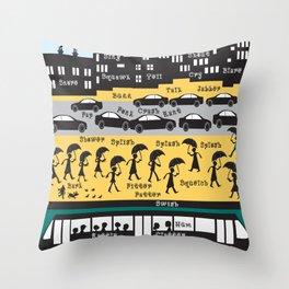 Silhouette city Throw Pillow