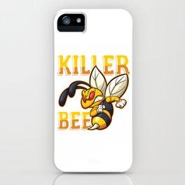 Angry Bees Beehive Beekeeper Honeycomb Honeybee Gift Killer Bee iPhone Case