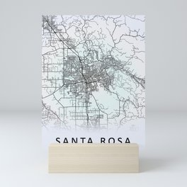 Santa Rosa, CA, USA, White, City, Map Mini Art Print