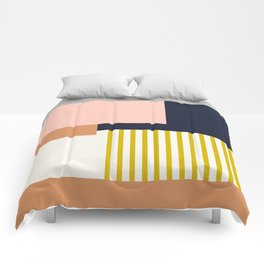 Sol Abstract Geometric Print in Multi Comforters