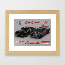 Old School #Earnhardt #3 #88 #NASCAR Framed Art Print