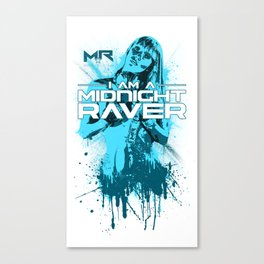 Midnight Raver Cyan Girl Canvas Print