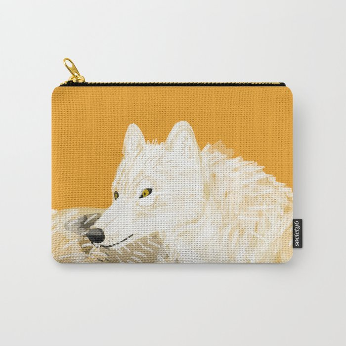 Totem wolf nubilus (pair) Carry-All Pouch