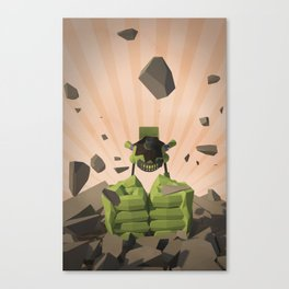 Green-Bot Smash Canvas Print