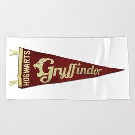 Gryffindor 1948 Vintage Pennant Beach Towel
