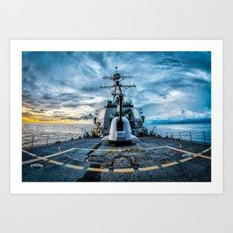 USS O'Kane Art Print