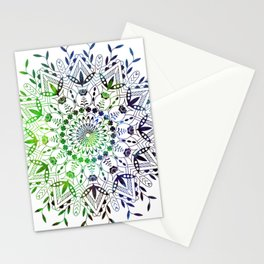Green Mandala Stationery Cards