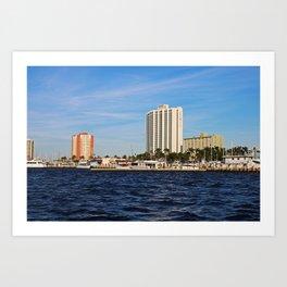 Fort Myers Yacht Basin Art Print
