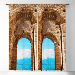 Roman villa, ancient Rome, Sirmione, lake Garda, Grottoes of Catullus Blackout Curtain