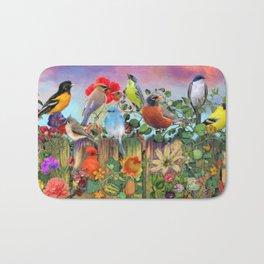 Birds and Blooms Bath Mat
